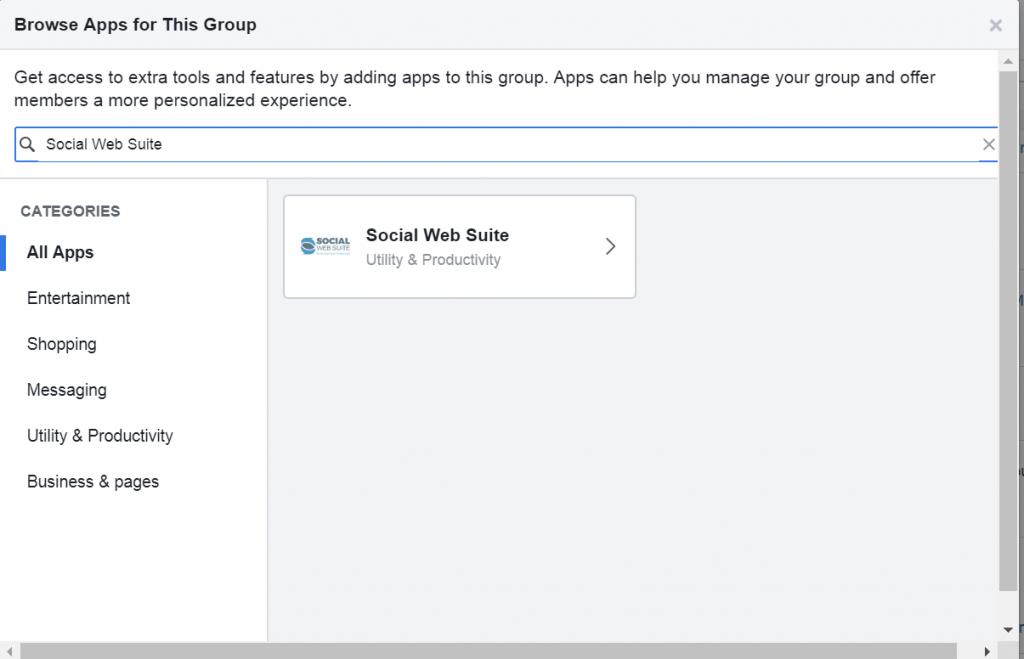 Social Web Suite app