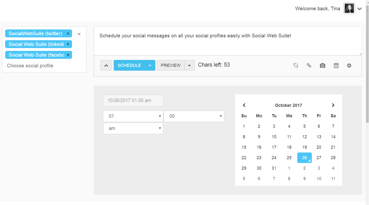 Engage with your audience with our social media scheduling tools
