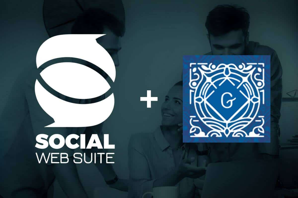Social Web Suite and Gutenberg logos