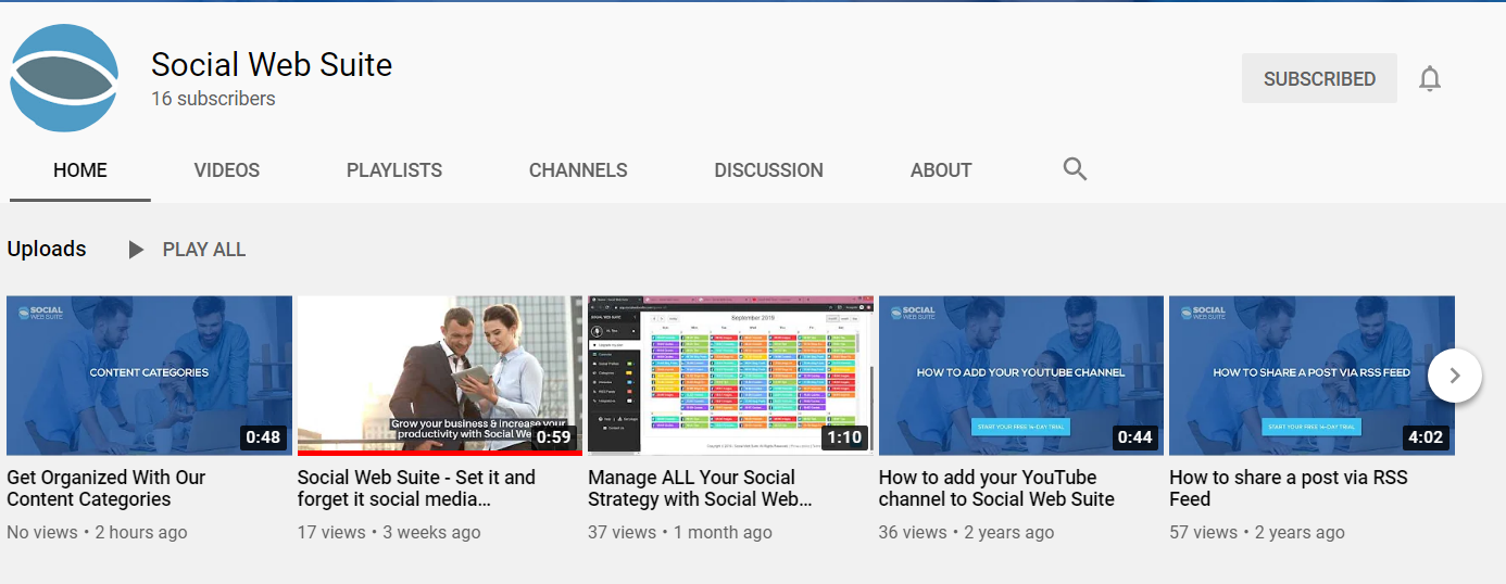 Social Web Suite YouTube chanel
